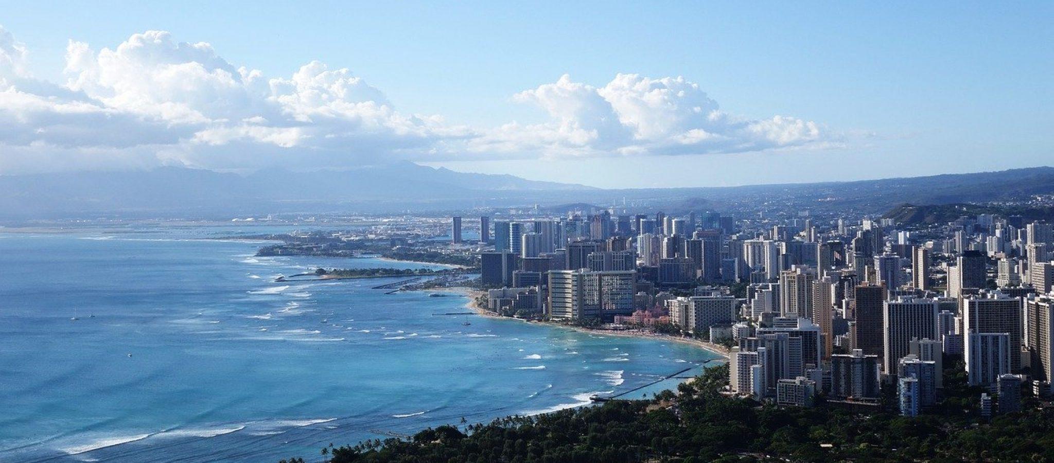 hawaii, diamond hill, city